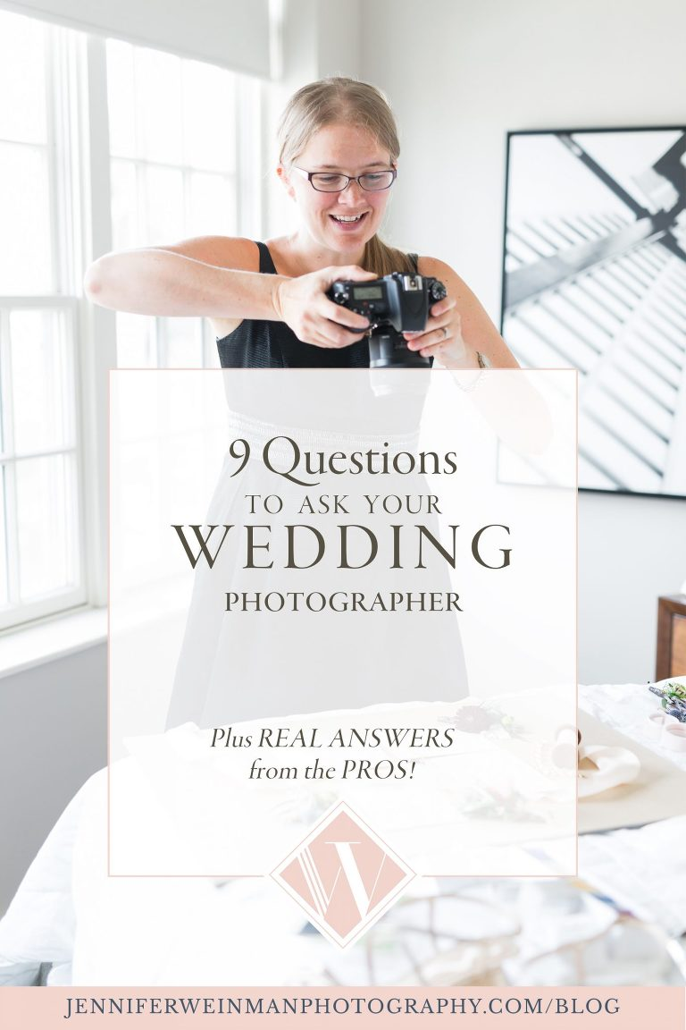 9 Questions to Ask Your Wedding Photographer. (And Real answers from the Pros!
